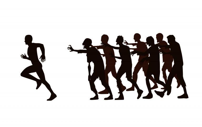 cursă virtuală zombie